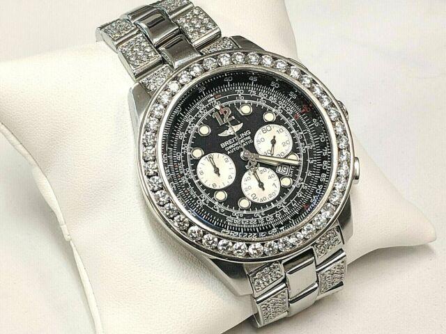 Breitling B2 Chronograph A42362 S/S Automatic W/ Diamond 14Kt Bezel & Bracelet