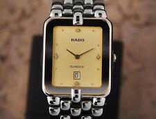 Rado Florence Swiss Made Mens Stainless Steel Quartz c 1990 Luxury Watch DSI20