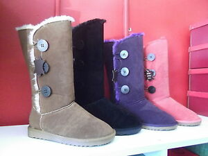 Ladies-Slippers-Boots-SOA-Ugg-Boot-Style-New-Size-5-11-Black-Purple-Tan-Coral