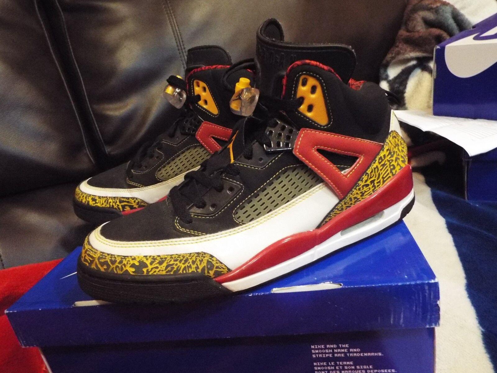 07 Nike Air Jordan SPIZIKE KING COUNTY BLACK TAXI RED WHITE gold 315371-071 SZ11