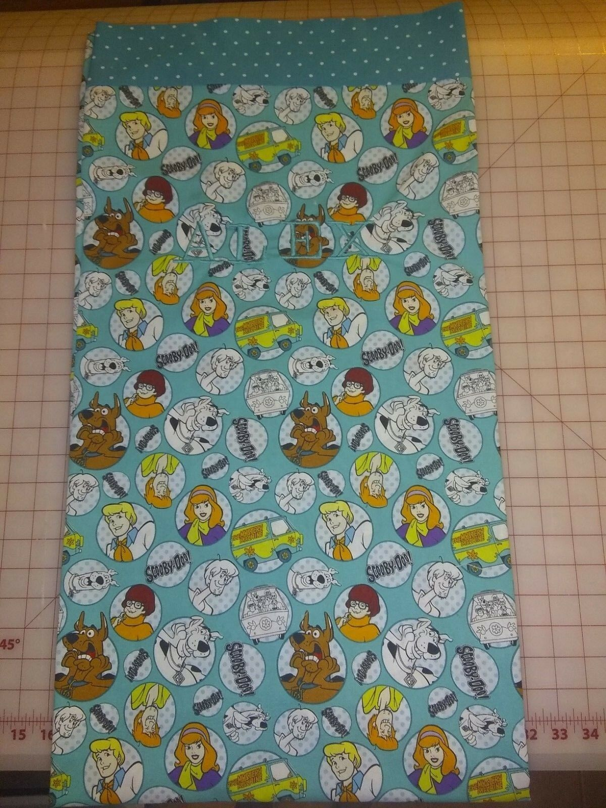 Scooby doo Toddler Crib fitted sheet top sheet curtain pillow case FREE NAME
