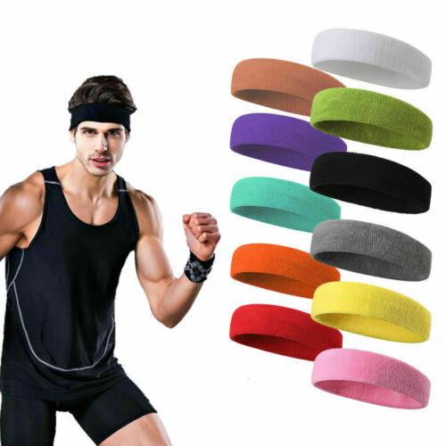 Sport Sweat Bandeau Bandeau Yoga Gym Stretch Unisexe Head Band Bracelet UK
