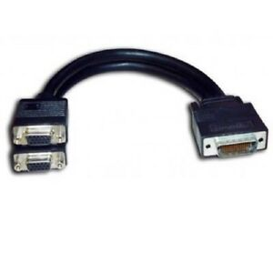ORIGINAL MATROX LFH60 TO DUAL DVI SPLITTER CABLE WITH DVI TO VGA ADAPTERS