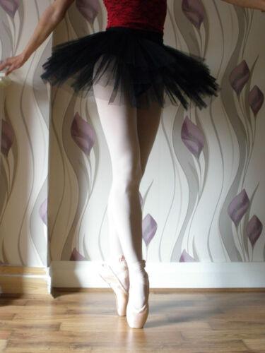 Professionnel Adulte Femme Fille de ballet de danse 4-layer Dur Net Tutu Noir pratique