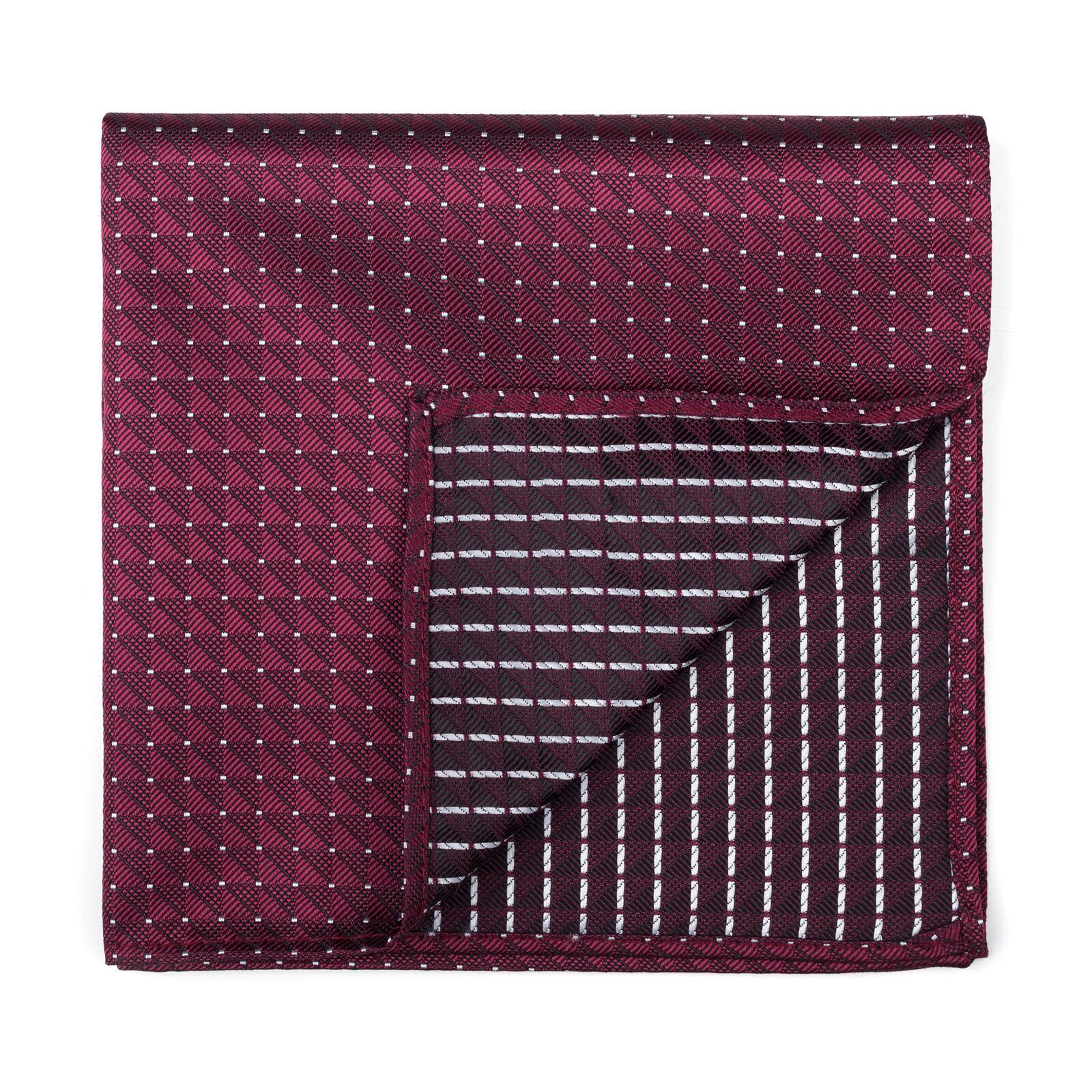 UK Burgundy Pocket Square Fine Polka Dot Wedding Handkerchief Multiple Colours
