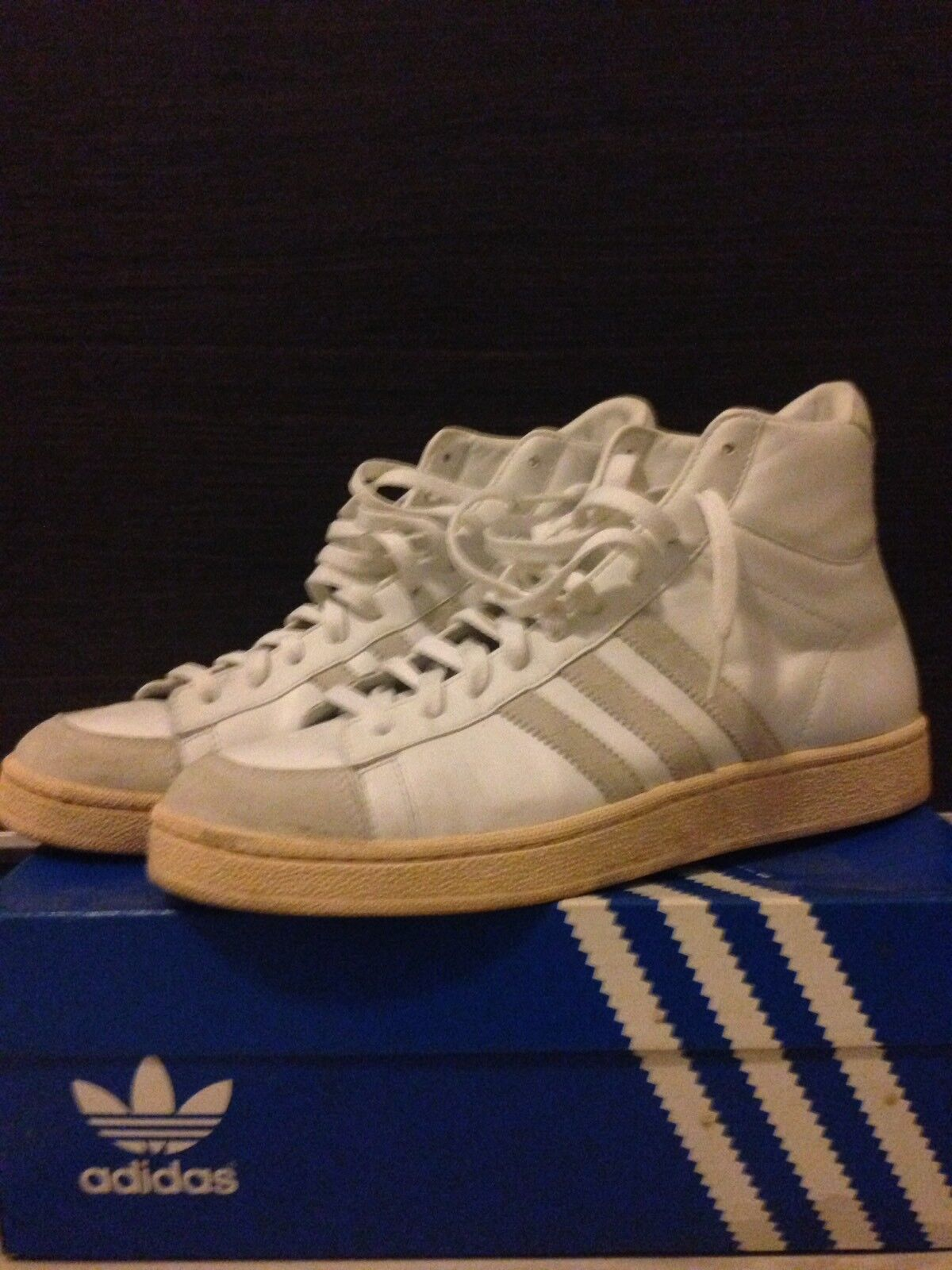 Adidas Jabbar Hi White/Blanc /Or  Size 11us 45 1/3 1/3 1/3 Eu b0fab5