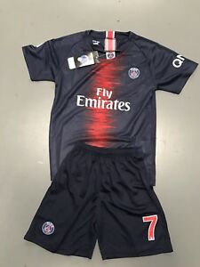 buy popular 94189 d9c09 Details about New Soccer Superstar Mbappe's Paris Soccer Club Jersey Set,  Kids Or Adult Size