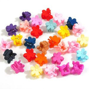 30-PCS-Kids-Baby-Girl-Mini-Plastic-Mixed-Flower-Hairpins-Hair-Claw-Clips-Clamp