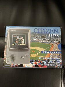 NEW!! VTG Citizen LCD TV Portable Player CBM Pocket Color Retro Rare
