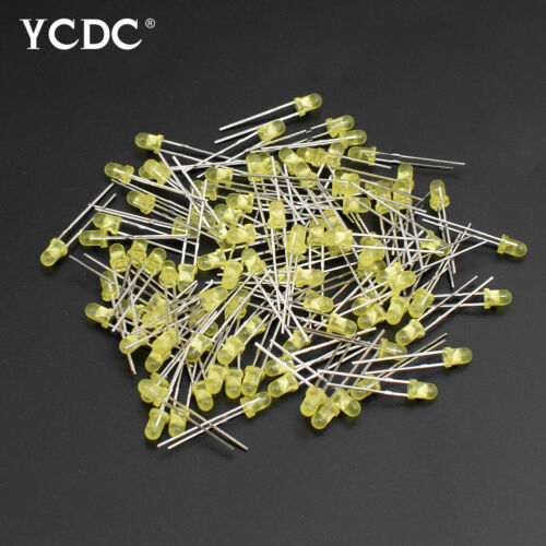 3mm//5mm 2-Pin Light LED Emitting Diode Round Head Green Yellow Red Blue X100 26