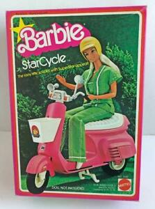 1978-Vintage-Barbie-Star-Cycle-Scooter-Mattel-NRFB-StarCycle-2149-Never-Opened