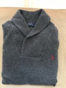 Polo-Ralph-Lauren-Cotton-Shawl-collar-Size-Medium