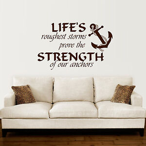Image Is Loading Anchor Wall Decal Quotes Nautical Sayings Wall Vinyl