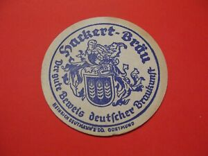 Bd-Vecchio-Sottobicchieri-di-Birra-Fabbrica-Birra-Hackert-Brau-Impronta-Dortmund