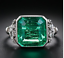 925-Sterling-Silver-4-72-ct-Emerald-Cut-Antique-Art-Deco-Vintage-Engagement-Ring thumbnail 1