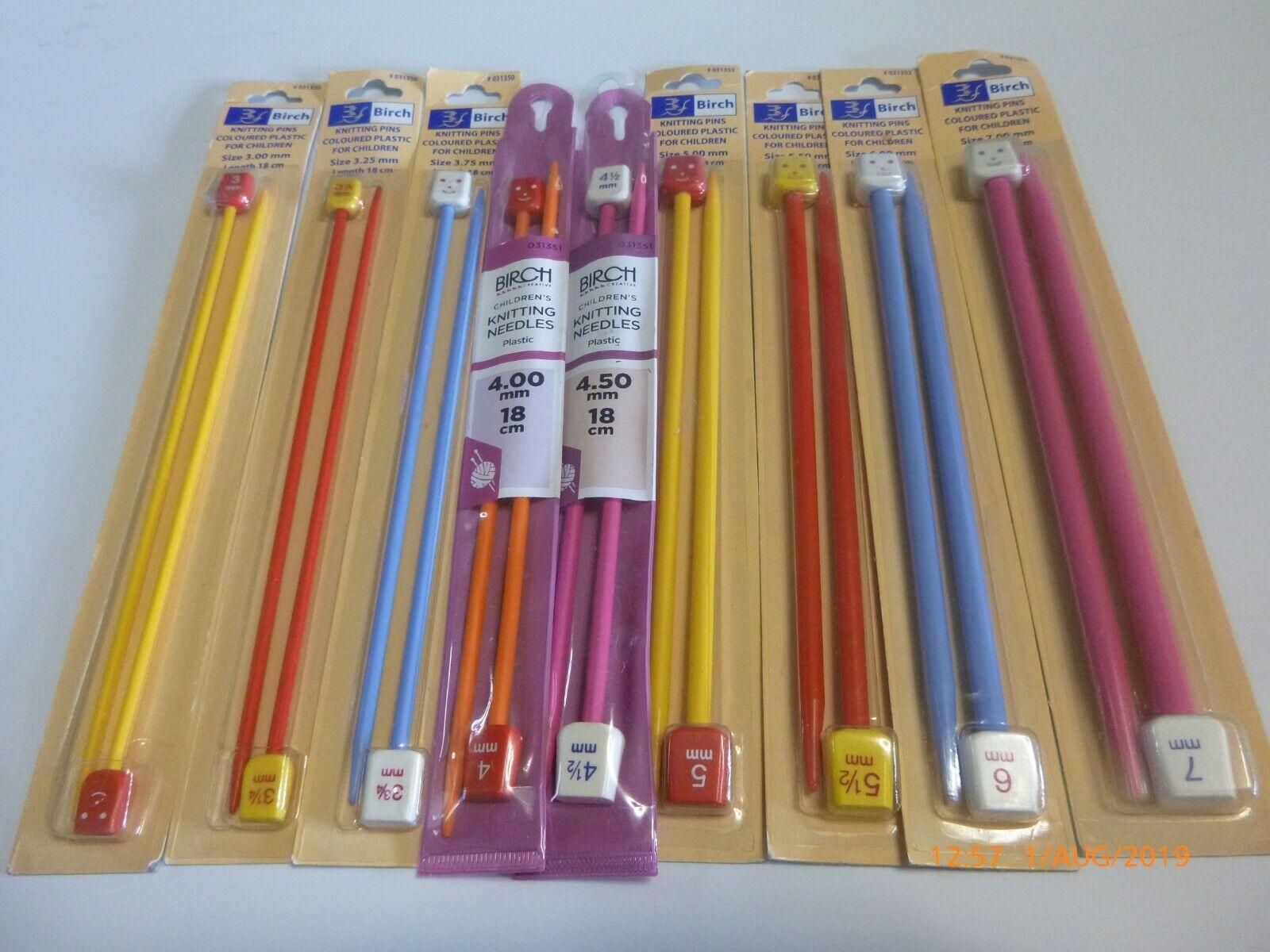 Pair Childrens Plastic Needles