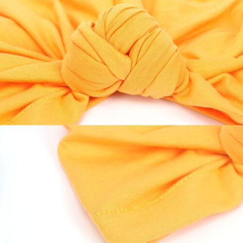 Femmes Nœud Turban Chapeau Couleur Unie Femmes Cheveux Head Wrap Caps Bonnet Neuf