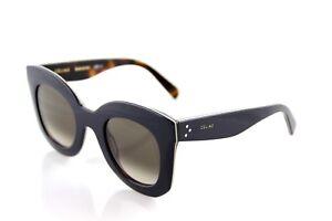 74ed7935208e RARE Genuine CELINE MARTA Ladies Blue Beige Havana Sunglasses CL ...