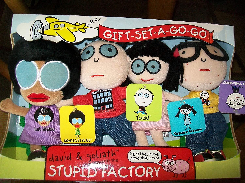 Stupid Factory Bonita Todd Trendy Stils Wendy Jack the Nerd Plush Set of 4 new