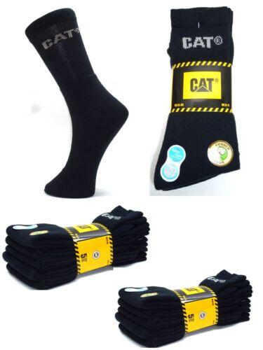"""CAT Caterpillar /""""Anti-Schweiß/"""" Arbeitssocken 10 Paar Socken Schwarz 41-45"""