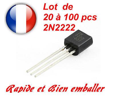 2N2222A TO92 caso transistores NPN-Paquete de 5
