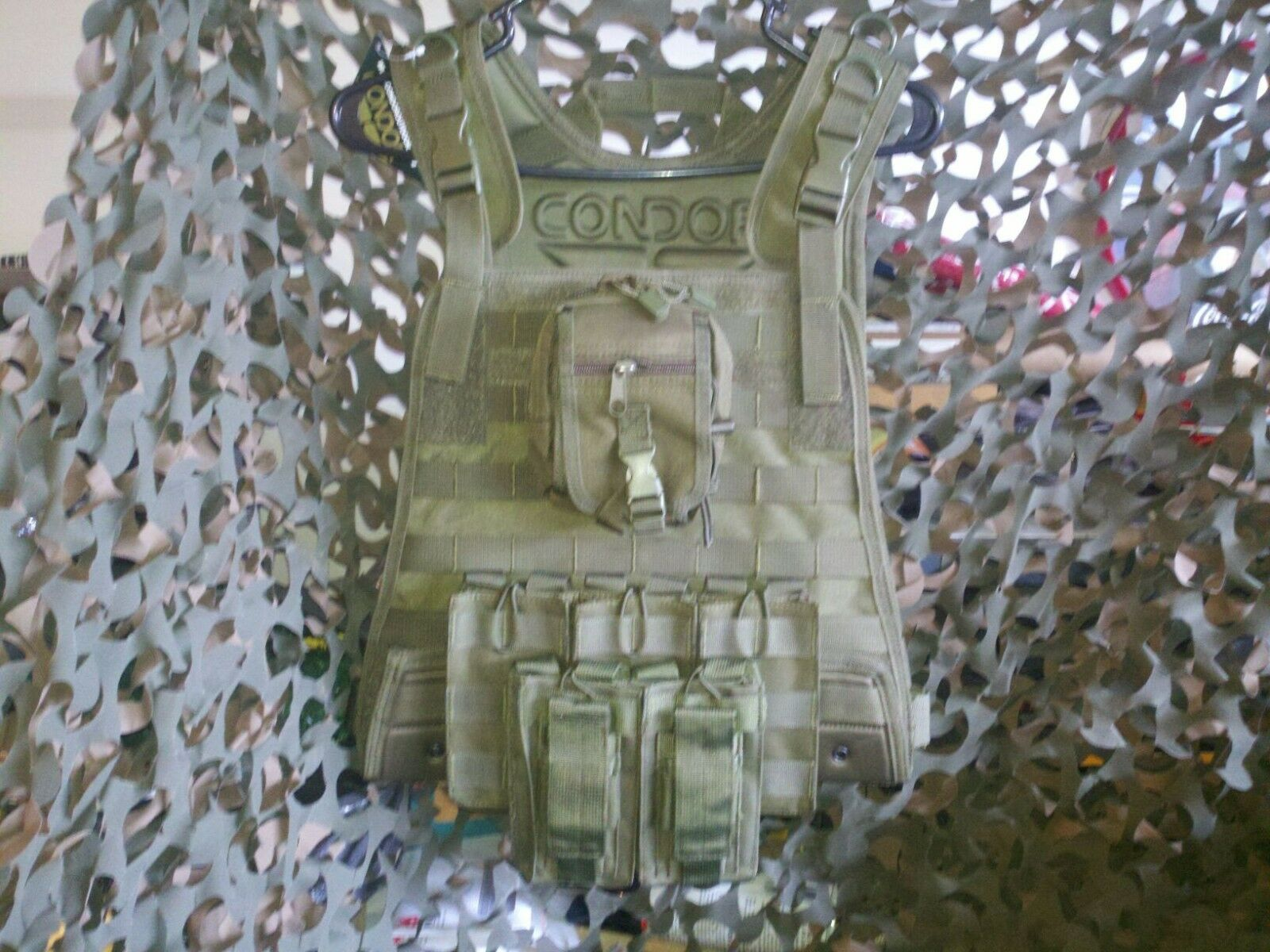 AR500 10 x12  Curved TAC Steel Plates & Condor OD Carrier & All Molle Shown