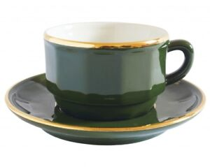 Image Is Loading Apilco Green And Gold French Bistro Ware Coffee