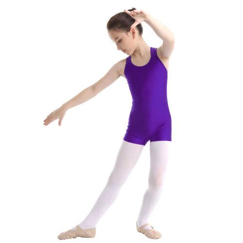 Girls Sports Dance Gymnastics Leotard Toddler Outfits Ballet Jumpsuits Dancewear