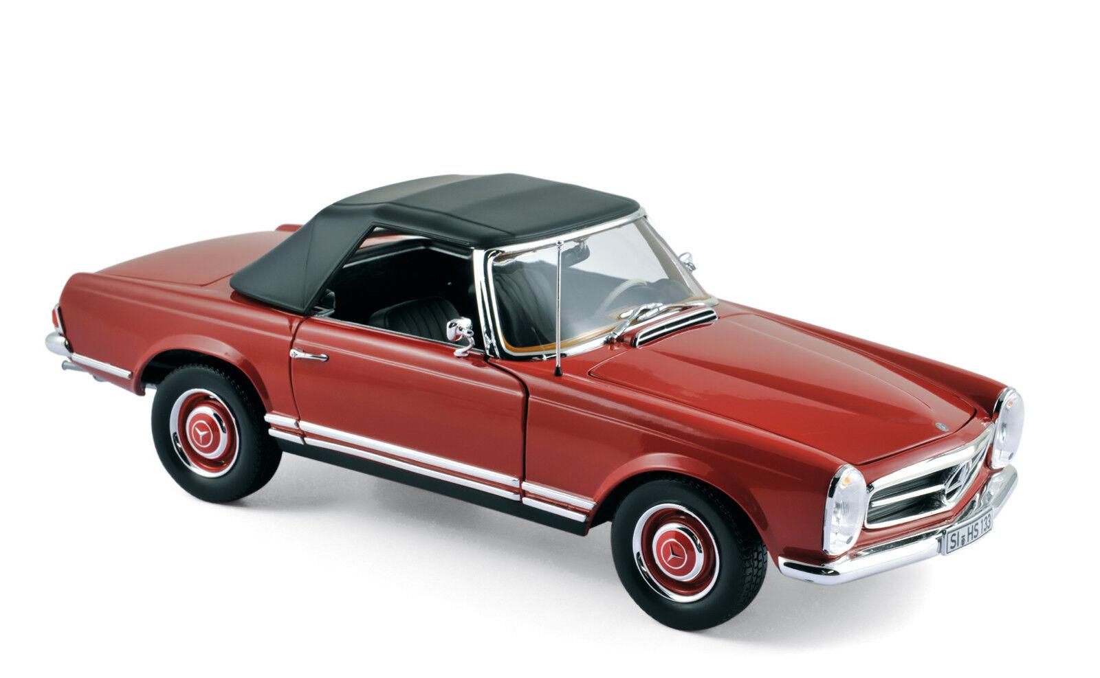 Mercedes-Benz 280 SL rot Baujahr 1969 Maßstab 1 18 von Norev  | Glücklicher Startpunkt