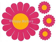 Large Gerbera Daisy flower car sticker decals caravan VW camper van transfer