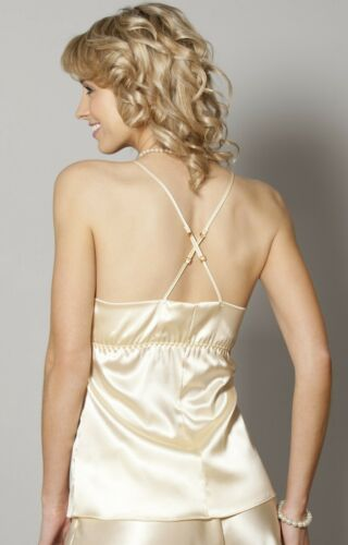 Sulis Silk Theodora stretch silk lace camisole cami top made in England