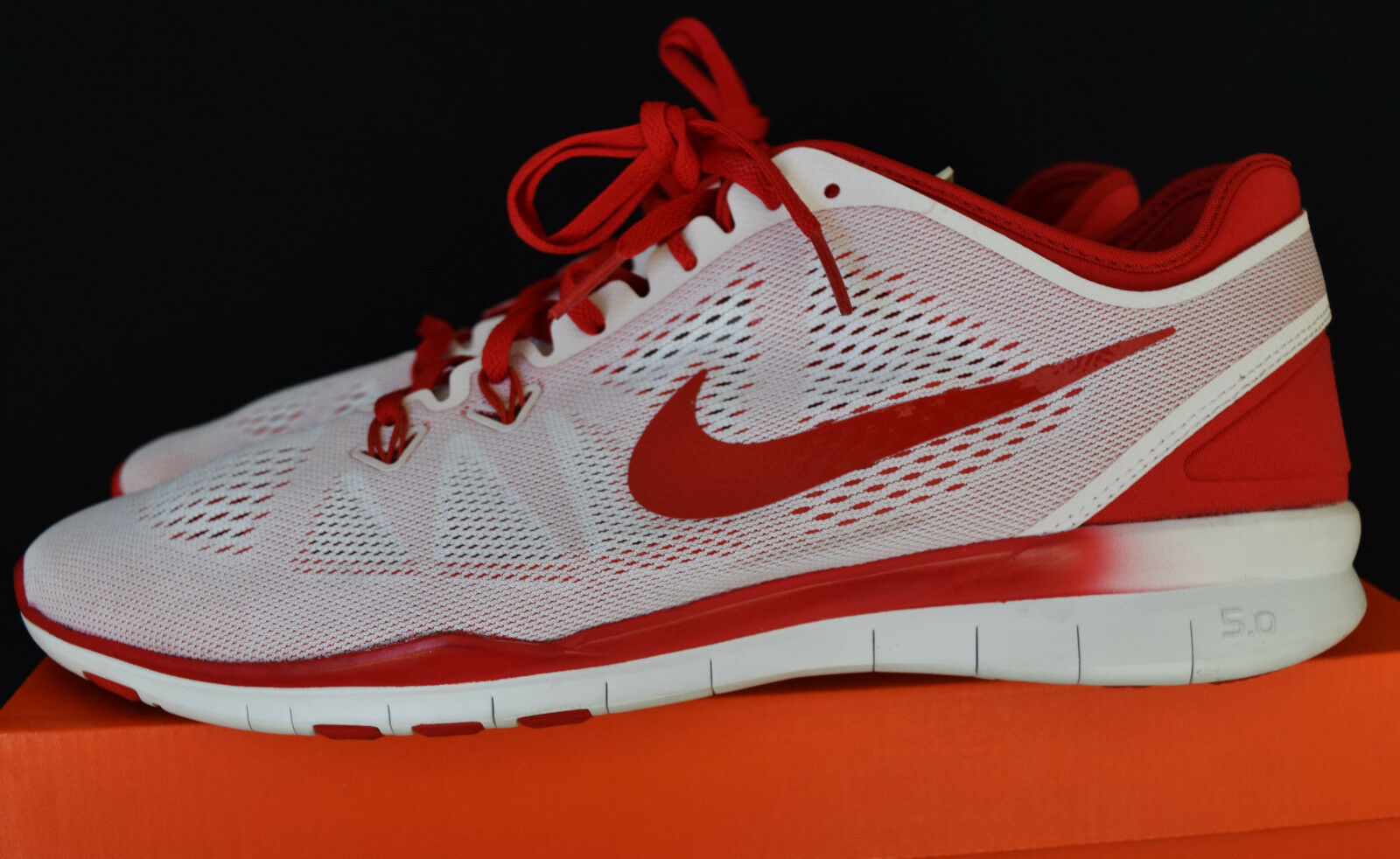 New Nike Free 5.0 TR Fit 5 Mens Premium Training Shoes Sz 14 Red, White, Fade