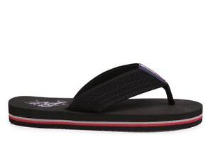 U. S. Polo Assn NETTUNO 4103 Tongs Homme Chaussures Chaussons Mer Douche Noir