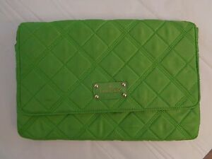 Image Is Loading Kate Spade New York Lime Green Quilted Clutch