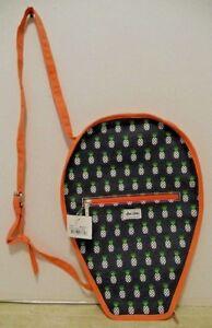 Ame & Lulu Raquette De Tennis Sac Housse Avec Ajustable épaule/cross-bandoulière-afficher Le Titre D'origine