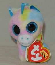 Ty Beanie Babies Boos 35208 Blitz The Blue Unicorn Boo Key Clip for ... b51196571ce1