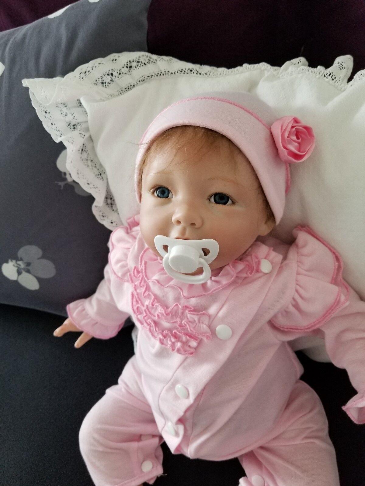 19  Hecho a Mano realista Reborn Doll con libre nuschel ® Vinilo De Silicona Suave Bebé