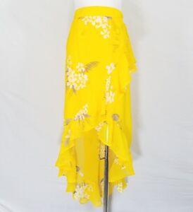 Day Gonna con New a portafoglio elasticizzata alta volant gonna Grande gialla vita A A1p floreale 490180528263 a rErq6
