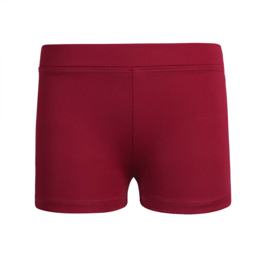 Girl Dance Shorts Kid Gymnastics Leotard Boy Cut High Waisted Bottoms Hot Pants