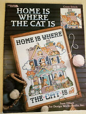 Leisure Arts Home is Where The Cat is by Joan Elliott Cross Stitch Chart