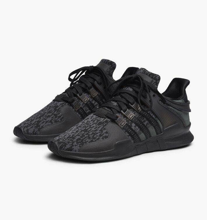 Adidas Mens EQT SUPPORT ADV Black Black Sub Green BY9589
