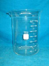 Pyrex 4000ml Glass Low Form Beaker 1000