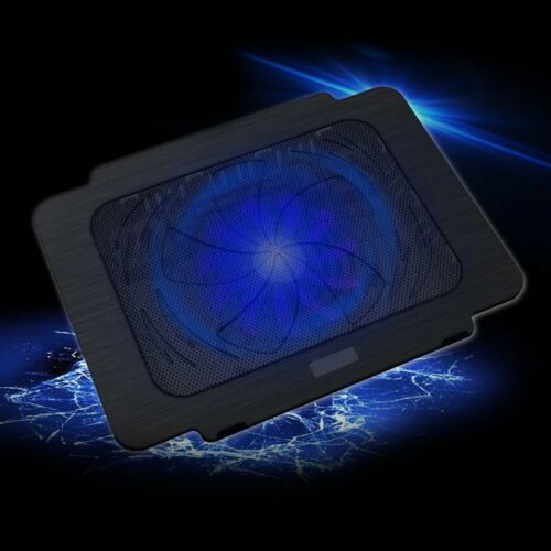 Laptop Cooler Cooling Pad Base Big Fan USB Stand For 14 Inch LED Light Notebook