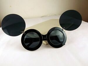 91c6887286e Sunglasses Lady Mouse Ears Gaga Paparazzi Flip Up Shades Super Star ...