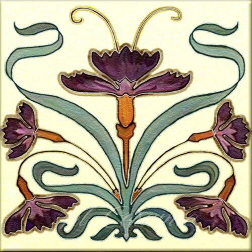 Art Nouveau Reproduction Decorative Ceramic tile 353