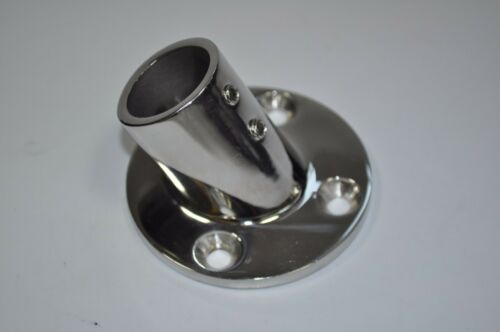 """Boat Hand Rail Fittings 45 Degree 7//8/"""" Round Base Marine Stainless Steel"""