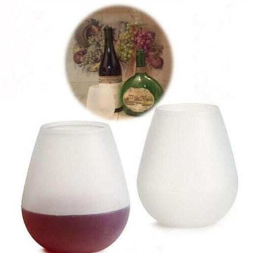 New Outdoor Unbreakable Silicone Wine Glass Collapsible Stemless Cup FI
