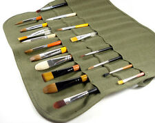 Popular Roll Up Canvas Paint Brush Storage Case Bag For Watercolor Oil ffus LM