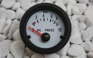 pression-d-039-HUILE-AFFICHAGE-Instrument-supplementaire-Oil-Pressure-CALIBRE-Blanc