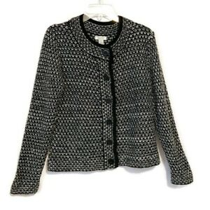 Christopher-amp-Banks-Cardigan-Chunky-Button-Sweater